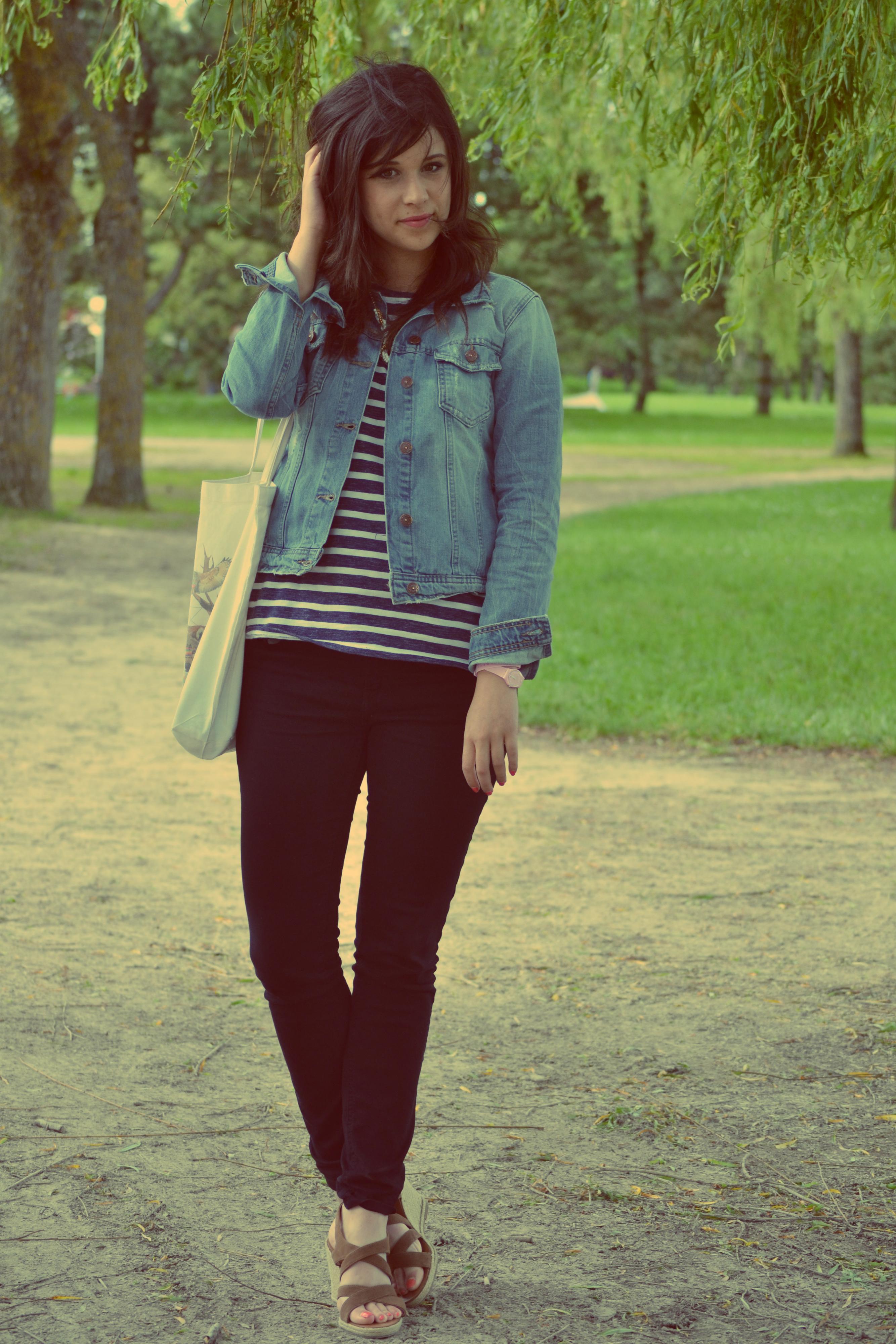 Tenue veste en jean